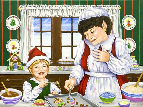 Mrs. Claus in the Kitchen